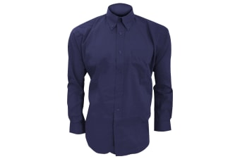 Kustom Kit Mens Long Sleeve Corporate Oxford Shirt (Midnight Navy) (22inch)