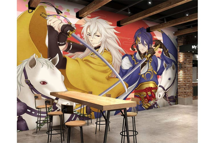 3D Double Confrontation 51 Anime Wall Murals Woven paper (need glue), XXXXL 520cm x 290cm (WxH)(205''x114'')