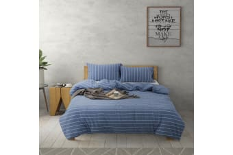 Dreamaker Cotton Jersey Quilt Cover Set Canberra King Single Bed