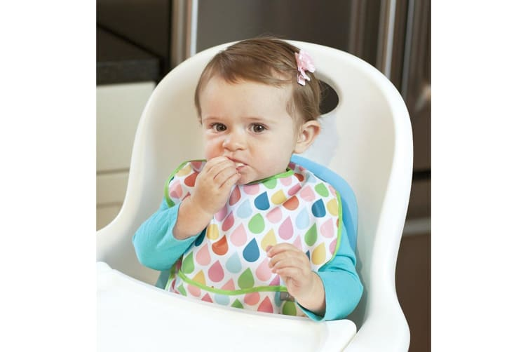 JJ Cole Feeding Bib Set 3 Pack - Summer Garden