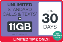 Kogan Mobile Prepaid Voucher Code: LARGE (30 Days | 11GB) - NEW CUSTOMERS ONLY