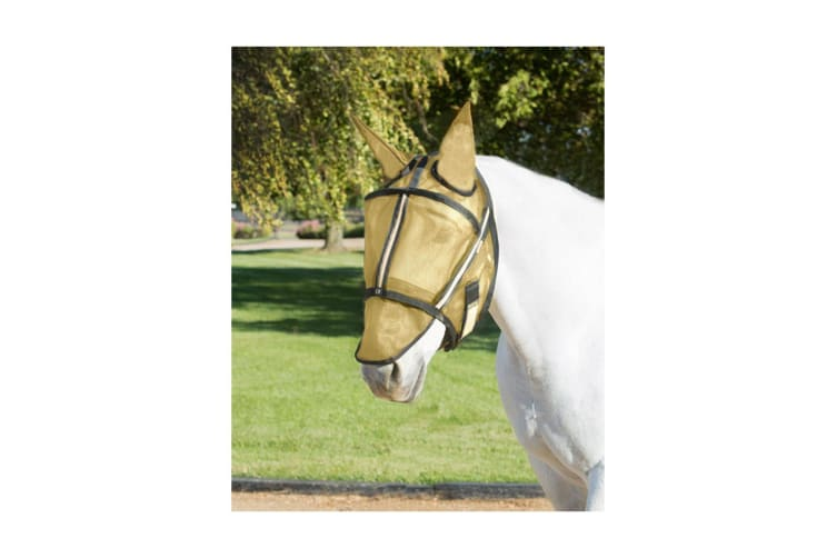 Noble Outfitters Guardsman Fly Mask With Ears (Noble Gold) (Medium)