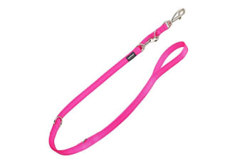Red Dingo Multiposition Plain Dog Lead (Hot Pink)