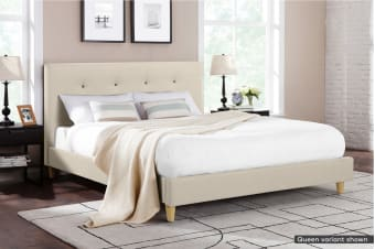 Ovela Bed Frame - Arezzo Collection (Beige Royal)