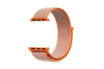 Smart Watch Band, Nylon Sport Loop Wrist Strap Replacment Band For Iwatch Series 1 /2 / 3 Orange 38Mm