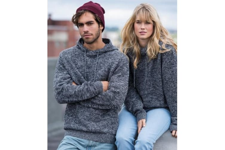 Ecologie Adults Unisex Iguazu Knitted Hoodie (Heather/Charcoal) (L)