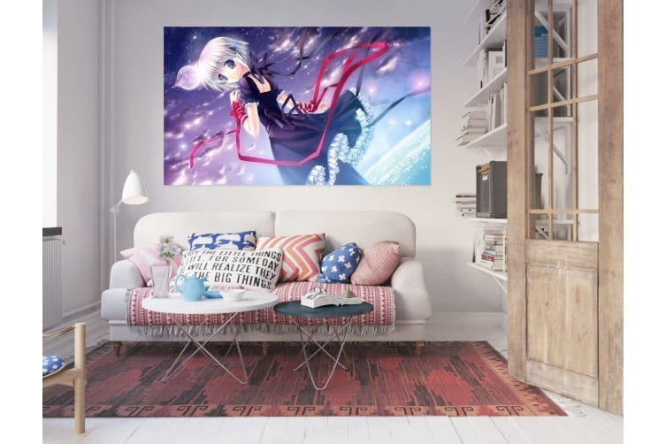 3D Beautiful Girl 303 Anime Wall Stickers Self-adhesive Vinyl, 260cm x 150cm(102.3'' x 59'') (WxH)