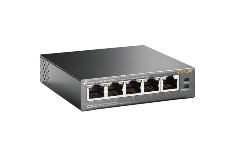 TP-Link TL-SF1005P 5-Port 10/100Mbps Desktop Switch With 4-Port PoE (TL-SF1005P)