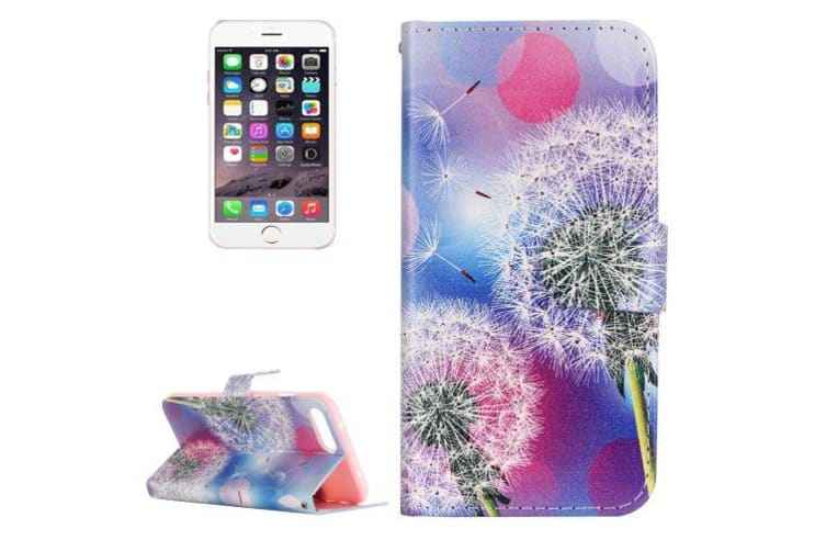 For iPhone 8 PLUS 7 PLUS Wallet Case Dandelion Durable Protective Leather Cover