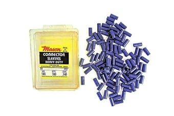 100 x Size 10 Mason Crimps - Crimping Connector Sleeves for Fishing Wire/Line