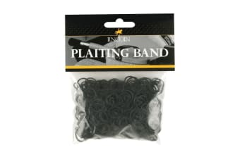 Lincoln Plaiting Bands (500 Pack) (Black)