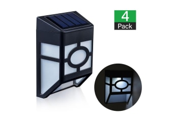 4 X Fence Lights Solar Powered LED Waterproof Outdoor Garden Patio Wall Pathway