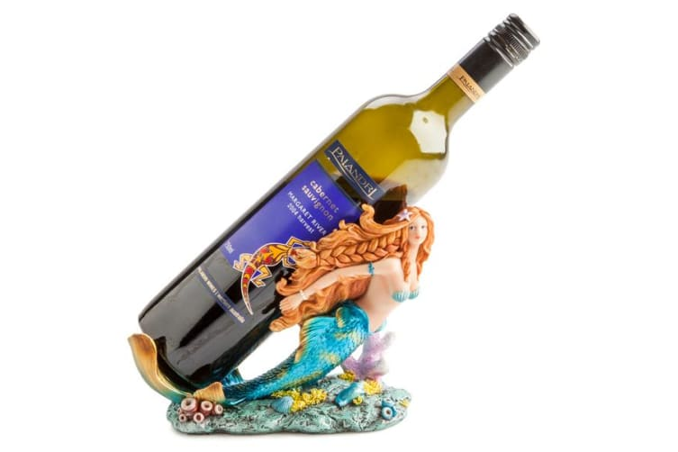 New Mermaid Bottle Holder with Hip Beachy Looks and Shiny Metallic Accents