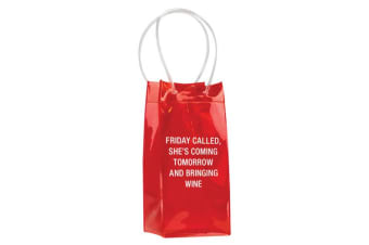 Say What PVC Wine Tote - Friday Called