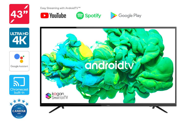 "Kogan 43"" XU9010 4K LED SmarterTV™ (Android TV™, Smart TV)"