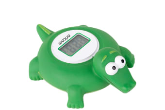 DIGITAL LCD FLOATING BATH & ROOM THERMOMETER + TEMPERATURE ALERT BABY CROCODILE