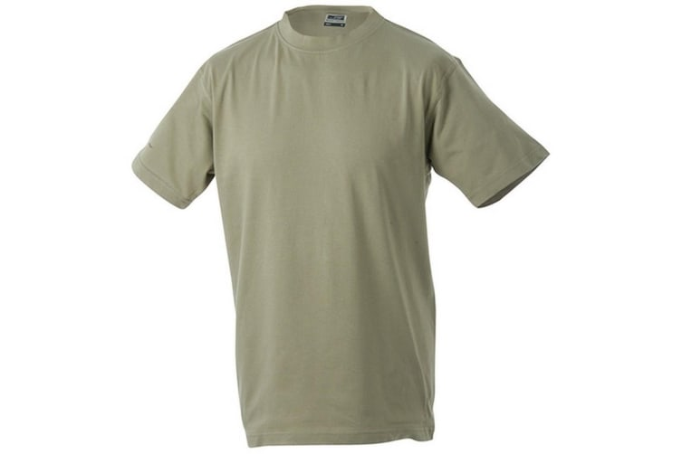 James and Nicholson Unisex Medium Round Tee (Khaki) (XXL)