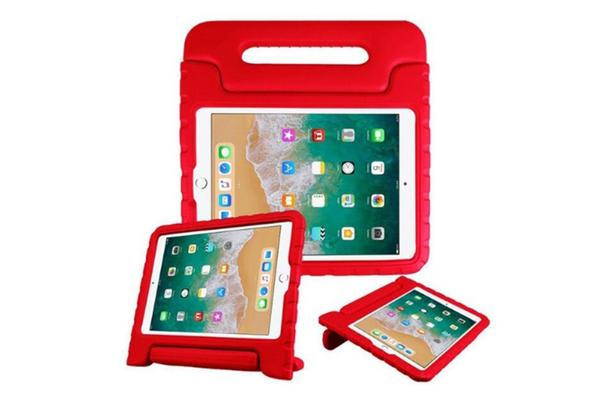 Education Soft handle iPad (2017 Model)  Case Protector For School Kids -Red