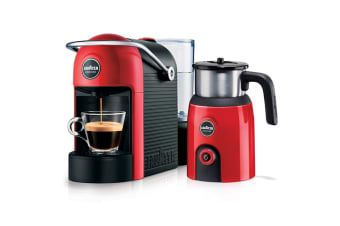 Lavazza Jolie Espresso Coffee Capsule Machine with Milk Up Induction Frother - Red