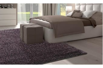 New Designer Ultra Soft Shaggy Floor Confetti Rug Purple 150x80cm