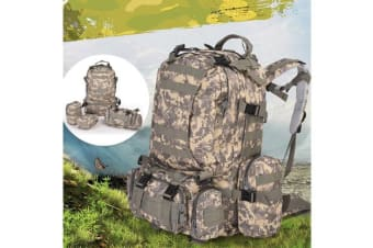 55L Hiking Camping Military Backpack ACU