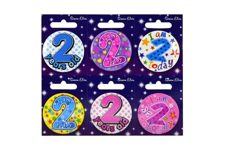 Simon Elvin Various Ages (1-17) Small Badges (Pack Of 6) (Multicoloured) (8)