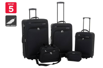 Orbis 5 Piece Ultimate Luggage Set (Black)