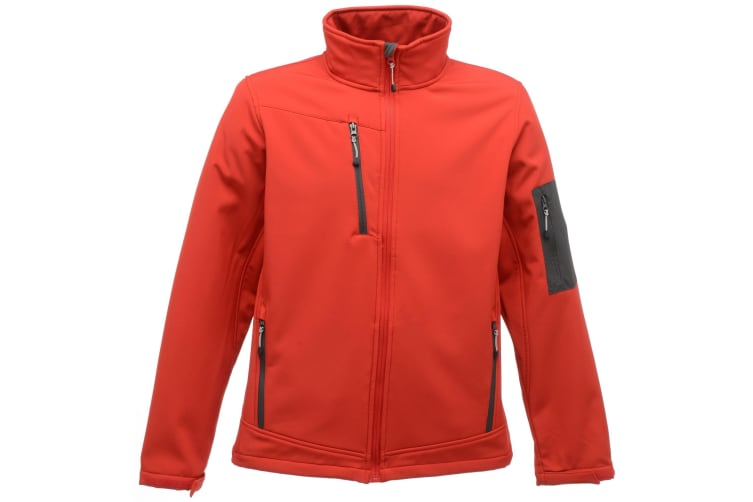 Regatta Standout Mens Arcola 3 Layer Waterproof And Breathable Softshell Jacket (Classic Red/Seal Grey) (XL)