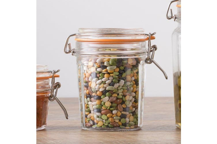 Kilner Faceted Clip Top Jar 450ml