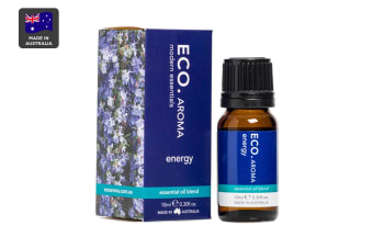 ECO. Aroma Energy Essential Oil Blend with Lavender, Rosemary, Juniper & Black Pepper (10mL)