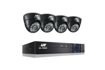 UL-TECH 1080P Eight Channel HDMI CCTV System with 4 Cameras (Black)