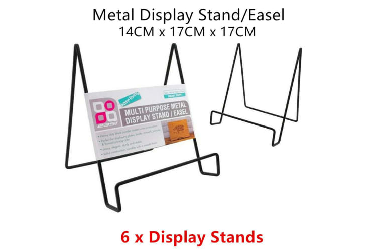 6 x Metal Display Stand Easel Rack Paper Document Photo Picture Plate Holder Office