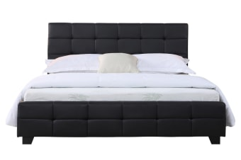 Bravo Bedframe (Queen, Black)
