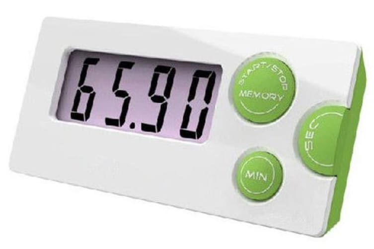 Countdown Timer 99 Minute Digital Lcd Kitchen Clock Sport Time Calculator Green