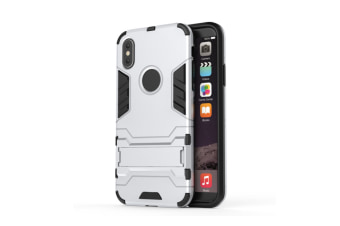 Full-Armoured Protective Case Of Steelman Stealth Bracket Phone Case For Iphone Silver Iphone 5S/5C/Se