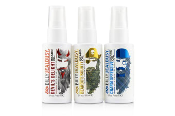 Billy Jealousy 3 Amigos Beard Oil Trio Set : 1x Beardo's Bounty 60ml + 1x Devil's Delight 60ml + Charm Offensive 3pcs