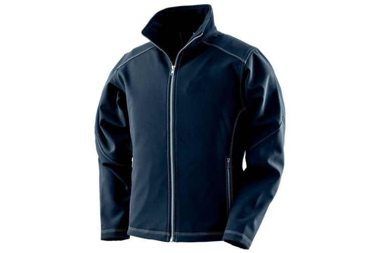 Result Work Guard Womens/Ladies Treble Stitch Softshell Jacket (Navy) (16 UK)