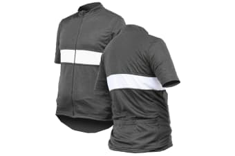 Jackbroad Premium Quality Cycling Jersey Grey M