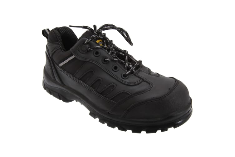 Grafters Mens Fully Composite Non-Metal Safety Trainer Shoes (Black) (45 EUR)