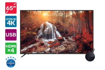 "Kogan 65"" 4K LED TV (Series 8 KU8000) + Chromecast Ultra"