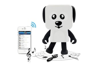 TODO Bluetooth V4.1 Dancing Robot Dog Speaker Portable Rechargeable - White