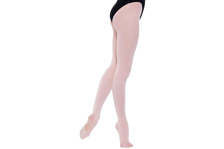 Silky Childrens Girls Dance Essential Full Foot Tights (1 Pair) (Pink) (11-13 Years)