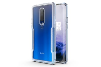 MAXSHIELD Slim Clear Heavy Duty ShockProof Case for OnePlus 7 Pro-Clear