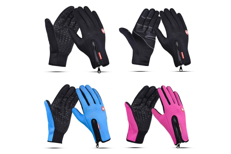Outdoor Sport Gloves For Men And Women Skiing With Cold-Proof Touch Screen - 2 Black S