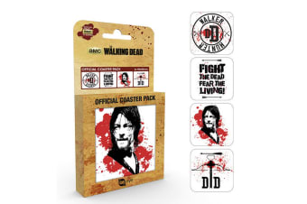 The Walking Dead Coaster Set (Pack Of 4) (White/Black/Red)