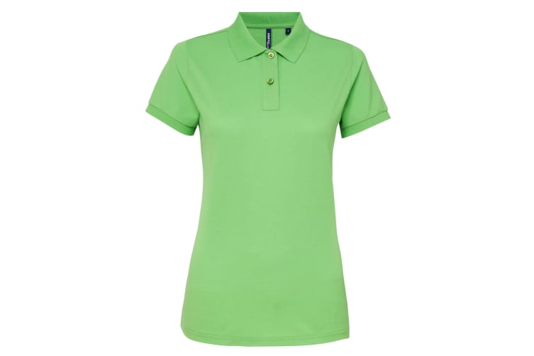 Asquith & Fox Womens/Ladies Short Sleeve Performance Blend Polo Shirt (Lime) (S)