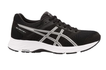 ASICS Women's GEL-Contend 5 Running Shoe (Black/Silver, Size 7)