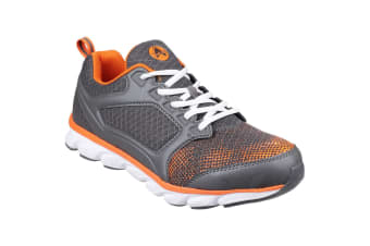 Amblers Safety Mens AS707 Lightweight Non-Leather Safety Trainer (Grey/Orange) (7 UK)
