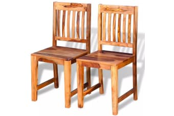vidaXL Dining Chairs 2 pcs Solid Sheesham Wood