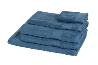 Morrissey Designer Egyptian 5 Piece Towel Pack (Denim)